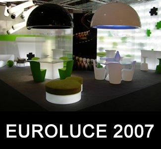 SLIDE Messestand auf der Euroluce 2007